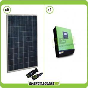 Impianto fotovoltaico Solare 1.3KW Serie KA 24V Inverter onda pura ibrido Genius30 3KVA 3KW PWM 50A