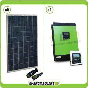Kit Solare fotovoltaico 1.5 kW Serie KA Inverter Genius40  3200W 4000VA 48V MPPT 60A con Display Remoto