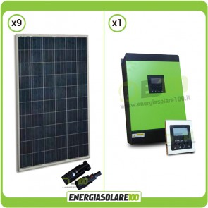 Kit Casa Solare Base 2.2kW Serie HG Inverter Genius40  3200W 4000VA 48V MPPT 60A con Display Remoto