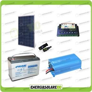 Kit baita pannello solare 200W 12V inverter onda pura 1000W batteria AGM 100Ah regolatore EPSolar