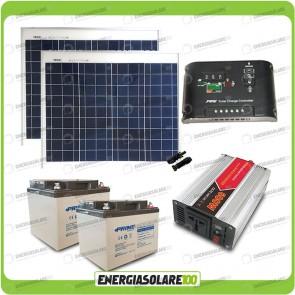 Kit baita pannello solare 100W 24V inverter onda modificata 600W batteria AGM 38Ah Epsolar
