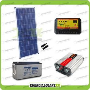 Kit baita pannello solare 150W 12V inverter onda modificata 1000W batteria AGM 150Ah