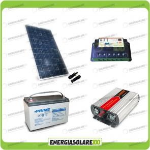 Kit baita pannello solare 200W 12V inverter onda modificata 1000W batteria AGM 100Ah regolatore EPSolar