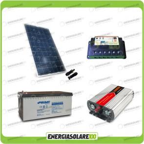 Kit baita pannello solare 200W 12V inverter onda modificata 1000W batteria AGM 200Ah regolatore EPsolar