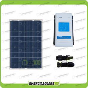 Kit Solare Camper 100W 12V regolatore di carica doppia batteria REGDUO MC4