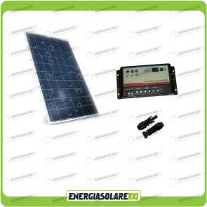 Kit Solare Camper 200W 12V regolatore doppia batteria REGDUO MC4