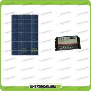 Kit Solare Camper 80W 12V regolatore di carica doppia batteria REGDUO