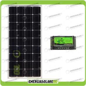 Kit Solare Fotovoltaico 100W Mono 12V Mantenimento