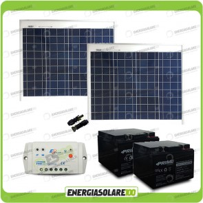 Kit cancello elettrico 100W 24V (pannelli + regolatore+batterie)