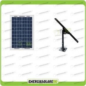 Kit Pannello Solare 10W 12V con Supporto di fissaggio Regolabile