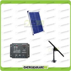 Kit Pannello Solare 20W con Regolatore di carica e Supporto di fissaggio Regolabile