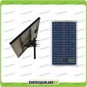 Kit solare fotovoltaico con pannello da 100W e testapalo diametro max 60mm inclinazione regolabile