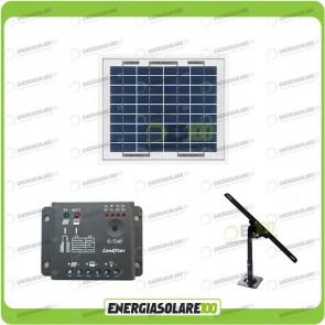 Kit Pannello Solare 5W 12 regolatore di carica 5A Supporto di fissaggio Regolabile