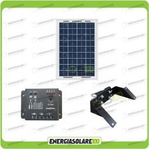 Kit Pannello Solare 10W 12V regolatore di carica 5A Supporto di fissaggio testapalo