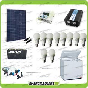 Kit Solare Fotovoltaico isolati dalla Civiltà 250W x Luci Frigo incluso Pompa Off-Grid
