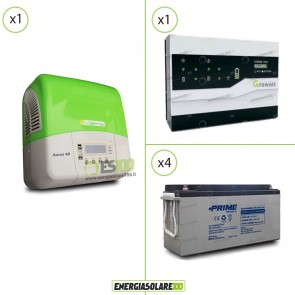 Kit Solare Fotovoltaico Inverter 3Kw + Dispositivo Storage + Batteria AGM 7.2Kwh