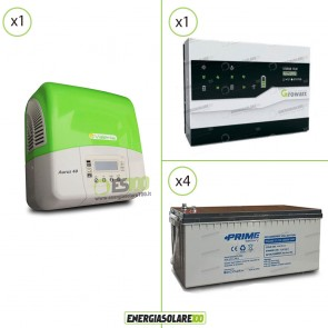 Kit Solare Fotovoltaico Inverter 3Kw + Dispositivo Storage + Batteria AGM 9.6Kwh