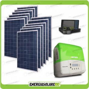 Kit Connessione a Rete 12 Pannelli Solari 270W + Inverter 3Kw + Limitatore di Energia