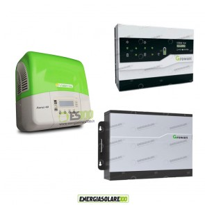 Kit Solare Fotovoltaico Inverter 3Kw + Dispositivo Storage + Batteria Litio 5Kwh