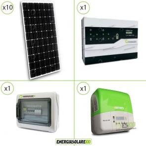Kit Impianto Solare 10 Pannelli 300W + Inverter 3Kw + Accumulo Storage + Stringa