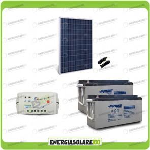 Kit Starter Plus Pannello Solare HF 250W 24V Batteria AGM 150Ah Regolatore PWM 10A LS1024B