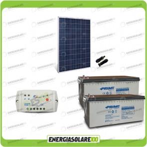 Kit Starter Plus Pannello Solare HF 250W 24V Batteria AGM 200Ah Regolatore PWM 10A LS1024B