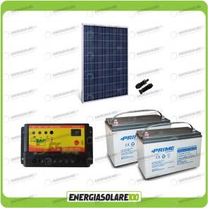 Kit Starter Plus Pannello Solare HF 250W 24V Batteria AGM 100Ah Regolatore PWM 10A NV10