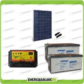 Kit Starter Plus Pannello Solare HF 250W 24V Batteria AGM 200Ah Regolatore PWM 10A NV10