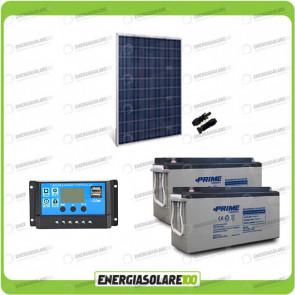 Kit Starter Plus Pannello Solare HF 250W 24V Batteria AGM 150Ah Regolatore PWM 10A NV10