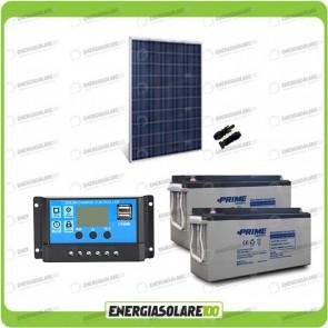 Kit Starter Pannello Solare HF 270W 24V Batteria AGM 150Ah Regolatore PWM 10A NV10