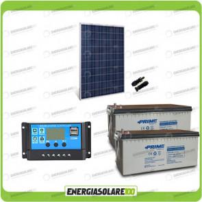 Kit fotovoltaico Pannello Solare HF 270W 24V Batteria AGM 200Ah Regolatore PWM 10A NV10