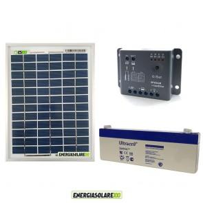 Kit Starter Solare Plus 5W 12V Policristallino 2.4Ah Regolatore PWM 5A