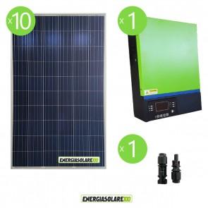 Impianto solare fotovoltaico 1.6KW 48V pannello solare Inverter ibrido Edison V3 5KW 48V MPPT80A