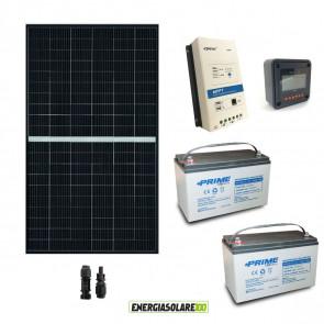 Kit fotovoltaico 24V con Pannello Solare monocristallino 375W Batterie AGM 100Ah Regolatore di carica PWM 30A VS3024AU