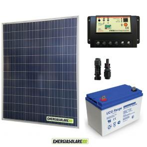 Kit Starter Plus Pannello Solare 200W 12V Batteria Gel 100Ah Regolatore PWM 20A EP20