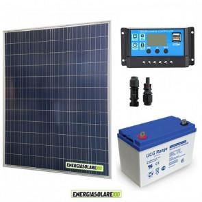 Kit Starter Plus Pannello Solare 200W 12V Batteria Gel 150Ah Regolatore PWM 20A NV20