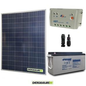 Kit Starter Plus Pannello Solare 200W 12V Batteria AGM 150Ah  Regolatore PWM 20A LS2024B