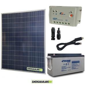 Kit Starter Plus Pannello Solare 200W 12V Batteria agm 150Ah  Regolatore PWM 20A LS2024B e Cavo USB RS485