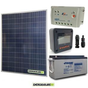 Kit Starter Plus Pannello Solare 200W 12V Batteria Agm 150Ah  Regolatore PWM 20A LS2024B e Display MT-50