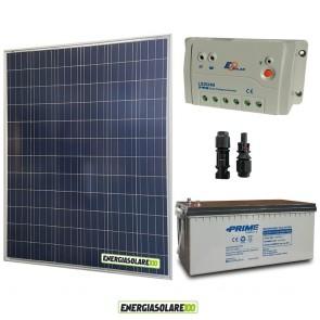 Kit Starter Plus Pannello Solare 200W 12V Batteria AGM 200Ah  Regolatore PWM 20A LS2024B