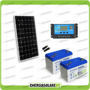 Kit Starter Plus Pannello Solare 300W 24V Batteria Gel 100Ah  Regolatore PWM 20A NV20
