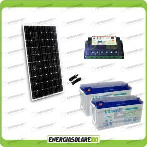 Kit Starter Plus Pannello Solare 300W 24V Batteria GEL 150Ah Regolatore PWM 20A Epsolar