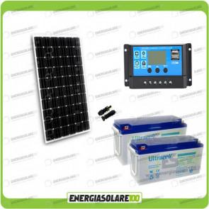 Kit Starter Plus Pannello Solare 300W 24V Batteria Gel 150Ah  Regolatore PWM 20A NV20