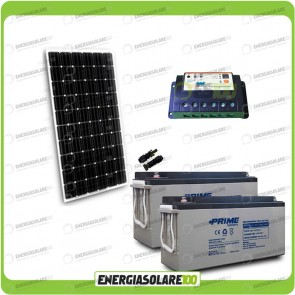 Kit Starter Plus Pannello Solare 300W 24V Batteria AGM 150Ah Regolatore PWM 20A Epsolar