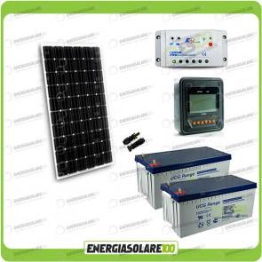 Kit Starter Plus Pannello Solare 300W 24V Batteria Gel 200Ah  Regolatore PWM 20A LS2024B e Display MT-50