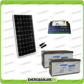 Kit Starter Plus Pannello Solare 300W 24V Batteria AGM 200Ah Regolatore PWM 20A Epsolar