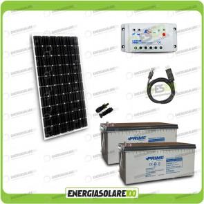Kit Starter Plus Pannello Solare 300W 24V Batteria Agm 200Ah  Regolatore PWM 20A LS2024B e Cavo USB RS485