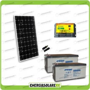 Kit Starter Plus Pannello Solare 300W 24V Batteria AGM 200Ah  Regolatore PWM 20A NV20