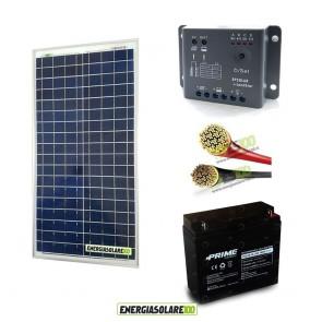 Kit Starter Pro NX 30W 12V con batteria 18Ah e cavi 2.5mmq PVC