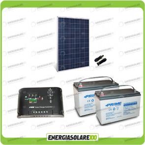 Kit Starter Plus Pannello Solare 250W 24V Batteria AGM 100Ah Regolatore di Carica 10A Epsolar